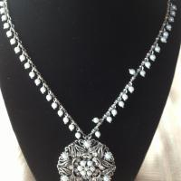 White House/Black Market Necklace - long.  Can adjust length.  Hardly worn. Photo
