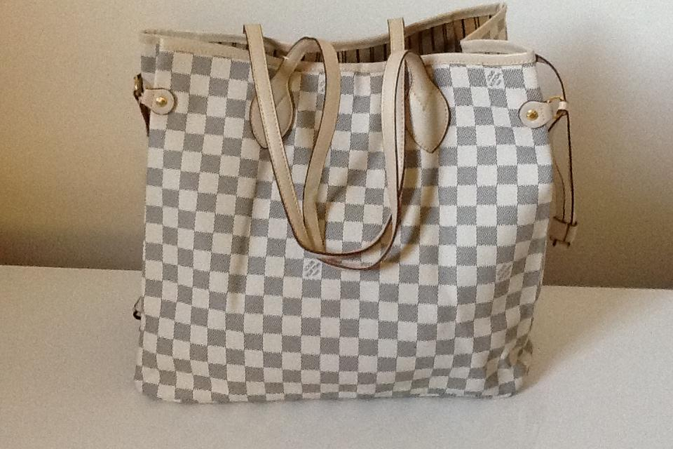 LOUIS VUITTON NEVERFULL DAMIER Azur Medium (Ship 24 hrs) Large Photo