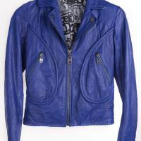 Doma - Blue/Purple Leather Jacket Photo