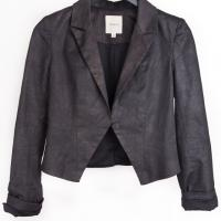 Mason - Charcoal Cropped Blazer Photo