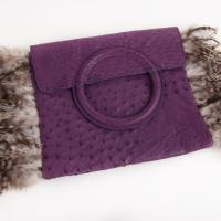 Leonella Borghi - Purple Leather Clutch  Photo