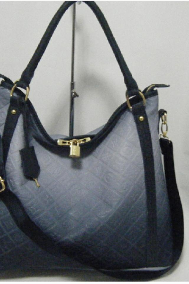 new, louis vuitton, slate, blue ,leather, empreinte, tote, purse, hand, bag, lv, fall, style  Photo