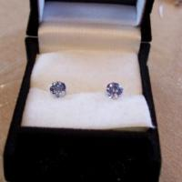 1.00ctw Tanzanite Earrings Photo