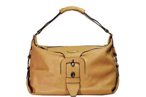 Tod's - Leather Buckle Handbag - Tan Photo