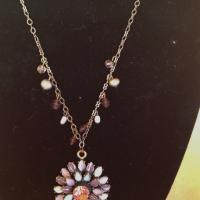 Chain necklace with beautiful pendant. Photo