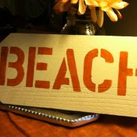 Fall Colors! Wood BEACH Sign Photo
