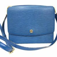 Vintage Louis Vuitton blue epi purse Photo
