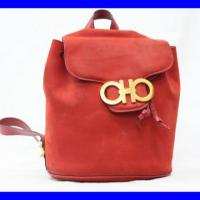 Vintage Salvatore Ferragamo red backpack Photo
