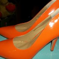 Awesome Orange High Heel Pumps Size 9 Photo