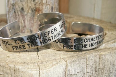 Vintage 2 Iran Hostage Bracelets Photo