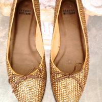 Stuart Weitzman Gold Sequin Flats Photo