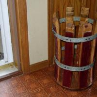 Wine barrel stave umbrella stand Photo