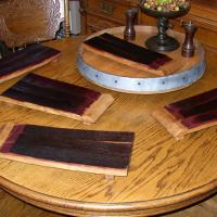 Wine barrel stave cheese board Photo
