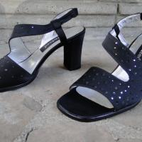 Sparkling Elegant Black Heels Photo