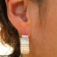 Silver Mesh Earrings Photo