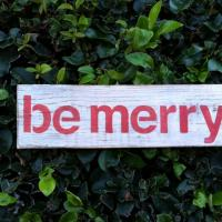 Be Merry Wood Holiday Sign Photo
