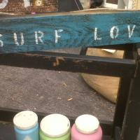 Surf Love beach sign Photo