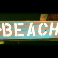 Beach sign Photo