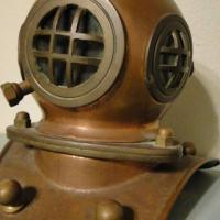 Vintage Nautical Diving Helmet Replica - Decor Piece Photo