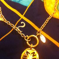 Vintage CHANEL golden charm necklace Photo