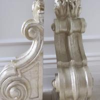 Pair of hand covered Silver leaf Corbel wall brackets  Photo