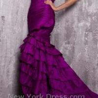 Jovani Rhumba Strapless Evening Gown 8210 Photo