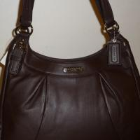 COACH SOHO LEATHER LARGE HOBO BROWN SHOULDER BAG F19250 Photo