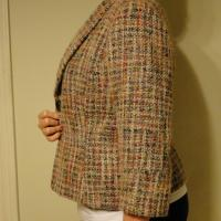 Women's Single Button Fitted Tweed Blazer Photo
