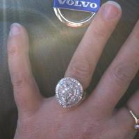 Vintage diamond Gold ring 1930/1940's Photo