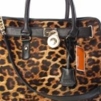 Michael Kors Leopard Hamilton Tote Bag Photo