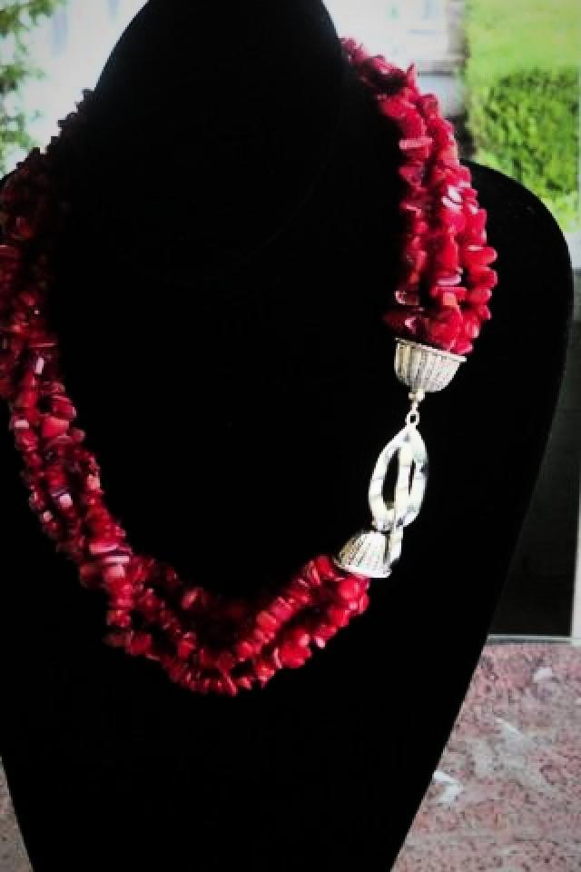 Red, Red and Red Necklace Photo