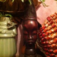 African Hand Carved Bust Photo
