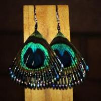 Peacock Earings Photo