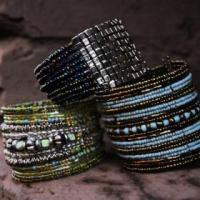 Color Beaded Cuffs Photo