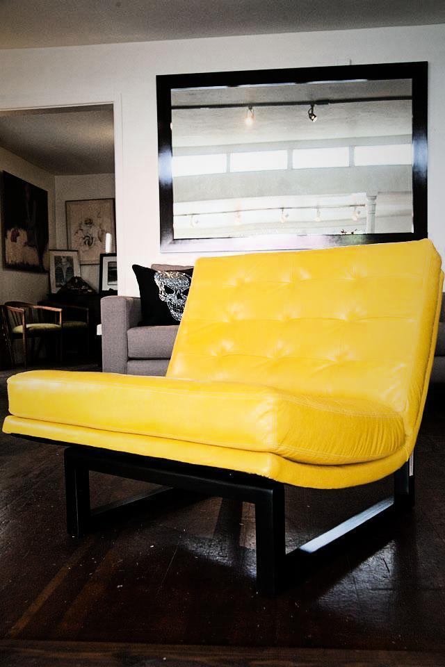 Yellow Chair Barcelona Style  Photo