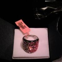 Pink Austrian crystals ring Photo