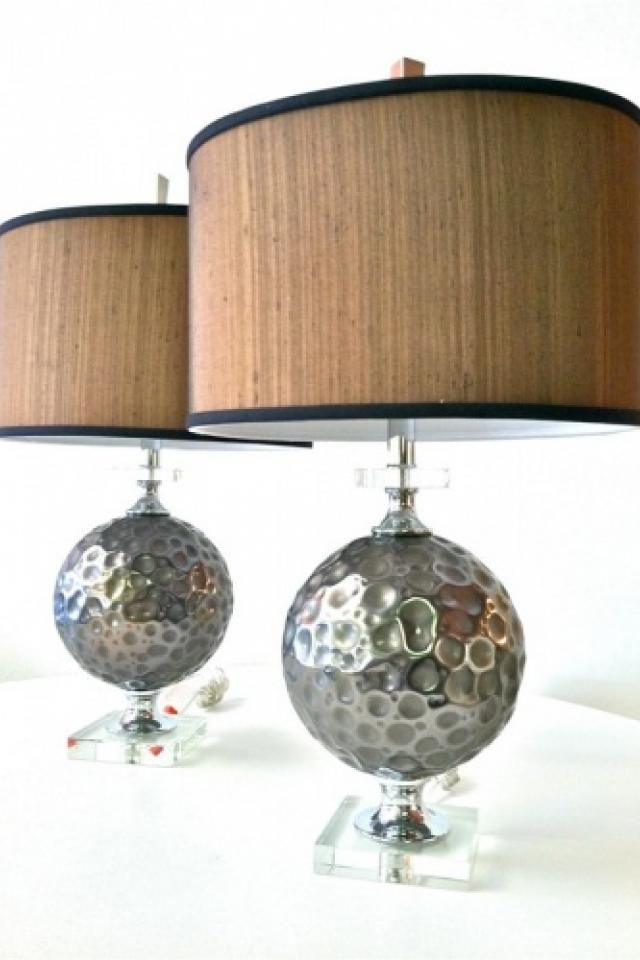New Chrome & Lucite Lamps Photo