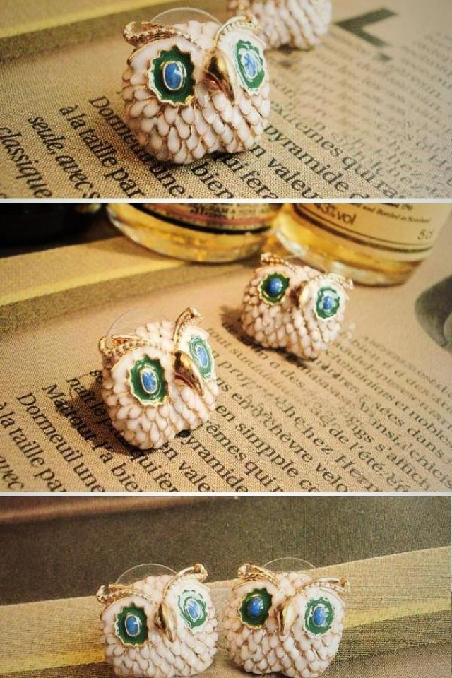 Brand New Owl Earrings  Large Photo