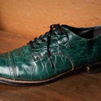 Green Crocodile Shoe Photo
