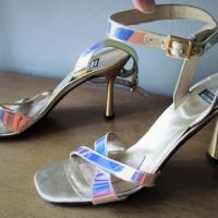 Stuart Weitzman Gold Iridescent Heels Photo