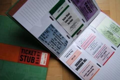 Ticket Stub Diary Photo