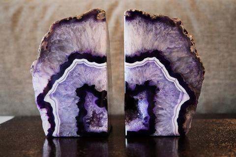 Agate bookends Photo