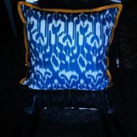 Cotton Ikat Pillow Photo