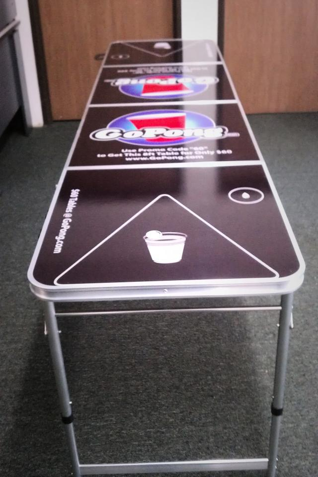 Promo 8' Go Pong™ Brand Beer Pong Table Photo