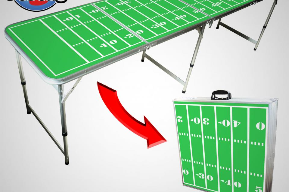 8' Football Field Beer Pong Table Large Photo