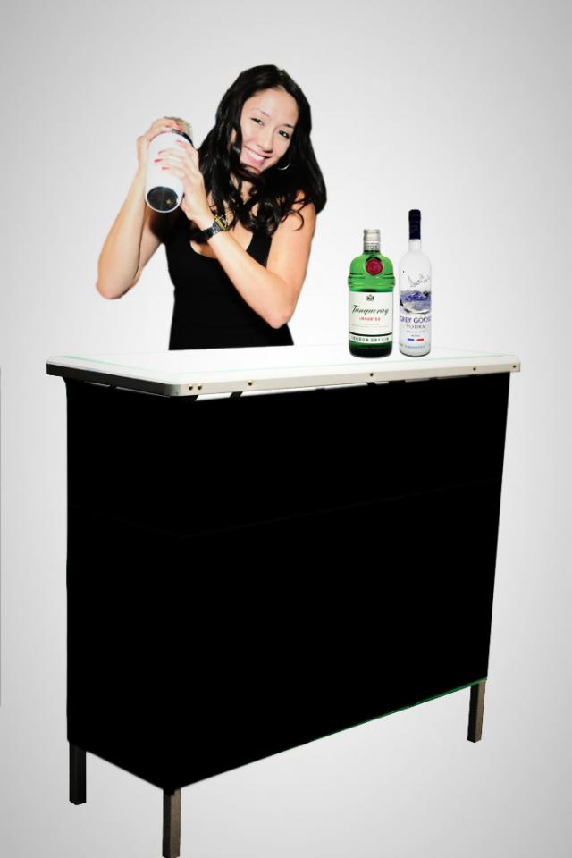 Portable Hospitality Bar - Great for Golf Events, Tailgates, and Trade Shows! Large Photo
