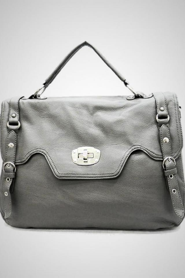 Lt. Grey Tote Handbag  Photo