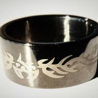 New Black Stainless Steel Ring with Celtic Design size 8, 9 1/2, 10i Photo