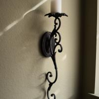 Large candle wall sconce Photo