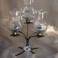 Table top candle holder with glass  Photo
